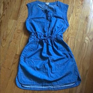 JCREW jean dress in small